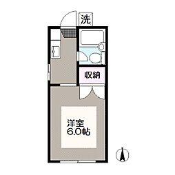 東京都江戸川区東葛西2の賃貸マンションの間取り