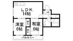 富士朝日町マンション[0201号室]の間取り