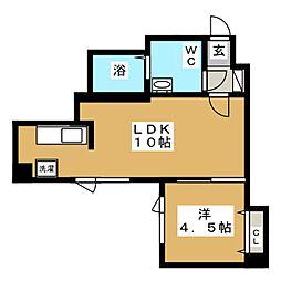 ブランノワールN14.exe[2階]の間取り