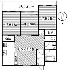 ブリックツカサ[4階]の間取り