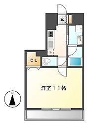 レジディア久屋大通[8階]の間取り