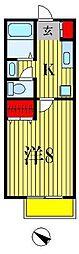ペルハムフラット[206号室]の間取り