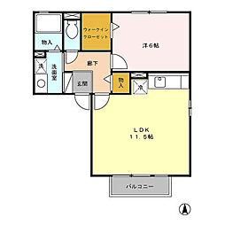 グリーンカースル A[2階]の間取り
