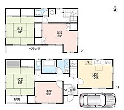 [一戸建] 埼玉県所沢市西所沢1丁目 の賃貸【/】の間取り