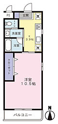紫陽花[2階]の間取り