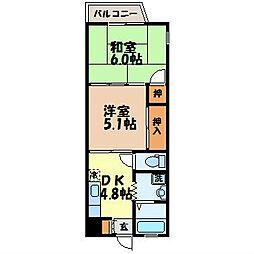 長崎県長崎市上田町の賃貸マンションの間取り