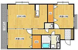 ボリモゼII[4階]の間取り
