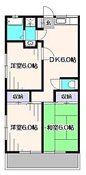 埼玉県新座市石神5丁目の賃貸アパートの間取り