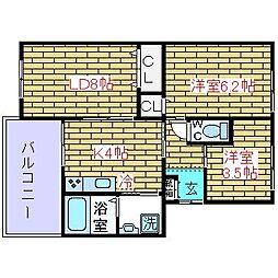 モダンアパートメント城南[306号室]の間取り