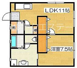 サンシティ2[1階]の間取り