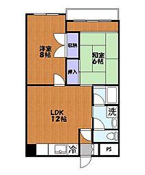 ファインクロス十二番館[6階]の間取り