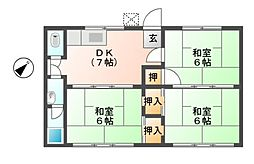 滋賀県東近江市春日町の賃貸アパートの間取り