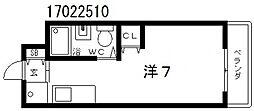 シティーホームズ針中野パート2[2階]の間取り