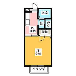 サンパティークS C[1階]の間取り