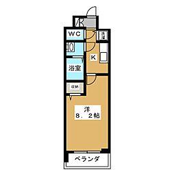 ベラジオ京都一乗寺[2階]の間取り