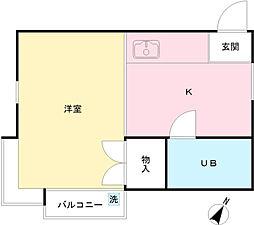 コーポジンバ[2階]の間取り