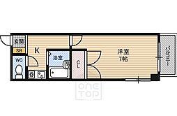 レインボー山崎[4階]の間取り