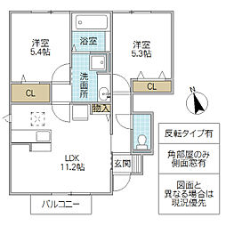 ルミエールK VI[102号室号室]の間取り