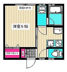 KOTOBUKI2[202号室]の間取り