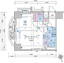 ジェノヴィア浅草駅前スカイガーデン[10階]の間取り
