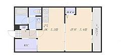 JR山陽本線 五日市駅 徒歩6分の賃貸アパート 3階1DKの間取り