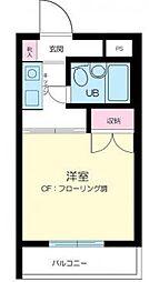 東京都大田区西蒲田8の賃貸マンションの間取り