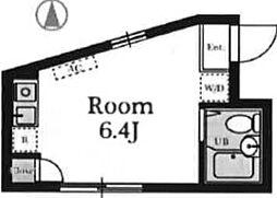 東京都新宿区下落合4丁目の賃貸アパートの間取り