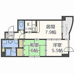 シェ・モア大通[8階]の間取り