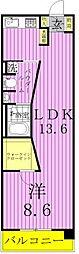 ロイヤルパークス西新井[6階]の間取り