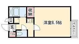 兵庫県尼崎市下坂部3丁目の賃貸マンションの間取り