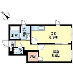 新潟県新潟市中央区西大畑町の賃貸アパートの間取り