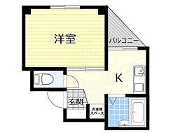 ライフステージ村田8 2階1DKの間取り