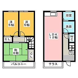 [テラスハウス] 福岡県太宰府市大佐野2丁目 の賃貸【/】の間取り