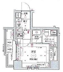 リヴシティ横濱関内 3階1Kの間取り