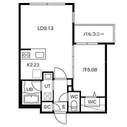 LIEN MARUYAMA[2階]の間取り