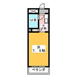 サンシャイン富士パートI[4階]の間取り