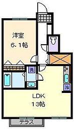 宝ルーセント B棟[1階]の間取り