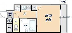 ビクトワール小阪[5階]の間取り