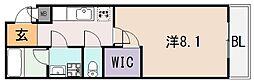 アルベージュ八戸ノ里II番館[2階]の間取り