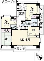 パーク・コート八事春山[1階]の間取り