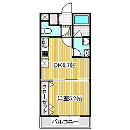 愛知県名古屋市港区正保町6丁目の賃貸マンションの間取り