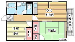 シティハイム福寿[2階]の間取り