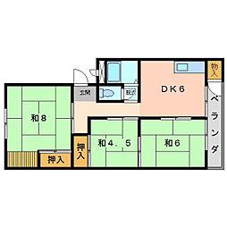 第1岸田マンション[2階]の間取り