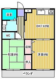 ラフィーヌ青柳II[1階]の間取り