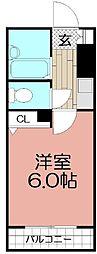 シャトー美野島[703号室]の間取り