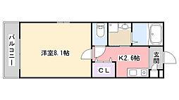 Marina Palace薬円台[301号室]の間取り