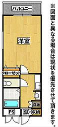 19-Cube(ナインティーンキューブ)[2階]の間取り
