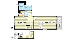 兵庫県姫路市辻井3丁目の賃貸アパートの間取り