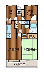 フォレスター新百合ヶ丘[4階]の間取り