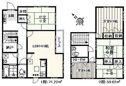 [一戸建] 東京都板橋区成増5丁目 の賃貸【/】の間取り